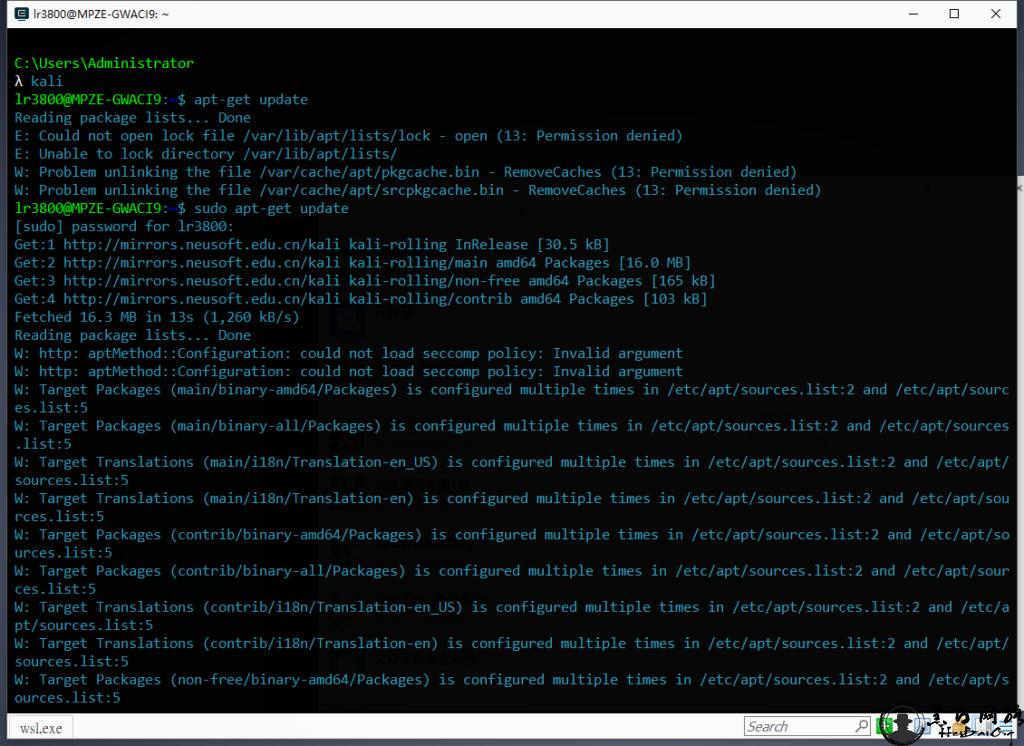 WIN10 安装 Kali Linux