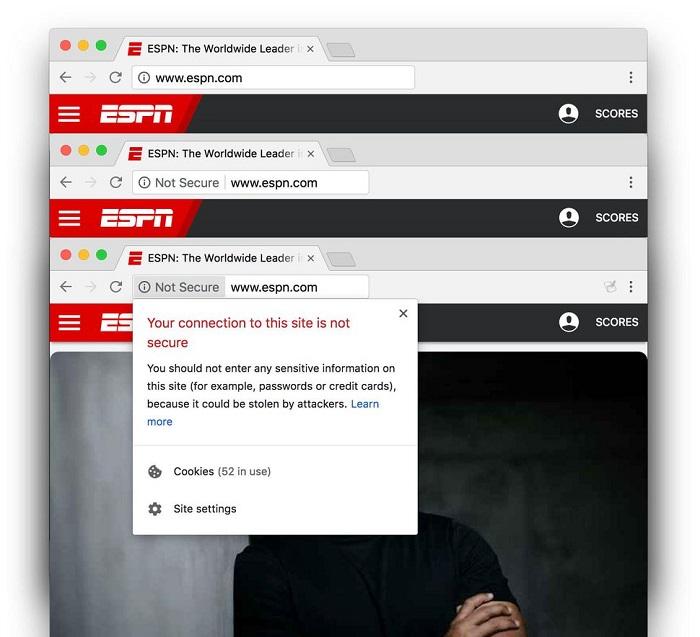 Google Chrome 68 正式向所有不安全的 HTTP 网站开炮