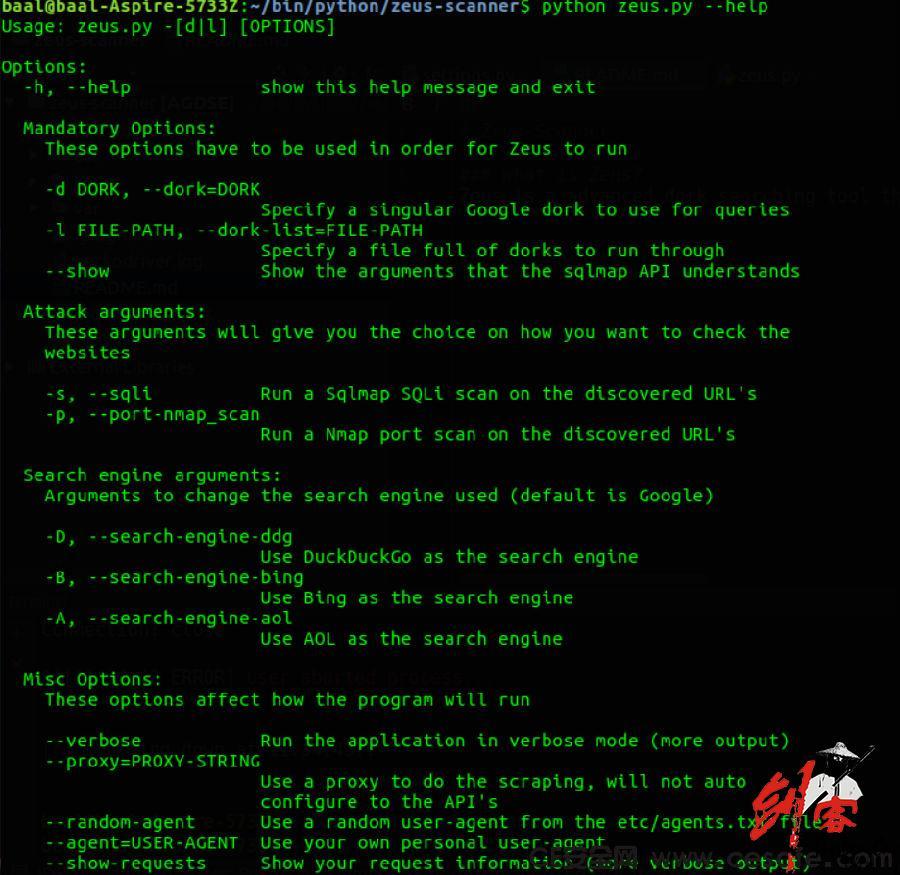 Zeus-Scanner 宙斯漏洞扫描器 一款开源漏洞扫描工具