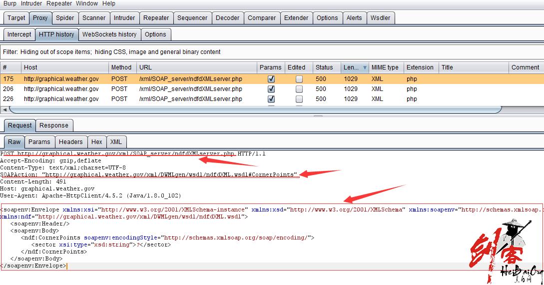 Burp Suite 测试Web Services 接口漏洞