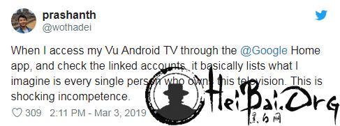Android TV 曝出 bug 或导致用户私人照片泄露